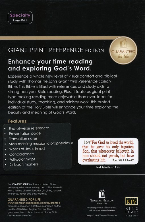 Giant print reference bible kjv divine trinity publication date 2011 dimensions 875 x 575 x 175 inches isbn 1418547824 isbn 13 9781418547820 availability in stock references end of verse negle Choice Image