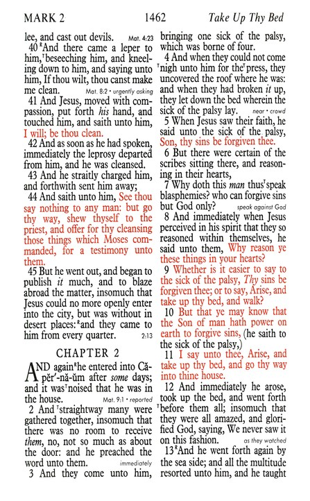 red letter bible print reference bible kjv 24233 | Excerp Page2